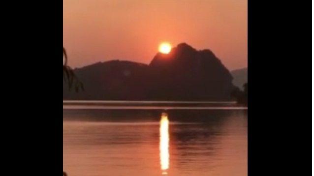 Video of Sleeping Buddha Swallowing Sun in China: Fact Check