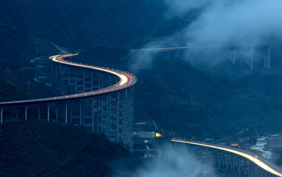 Image of Yaxi Expressway in Sichuan, China