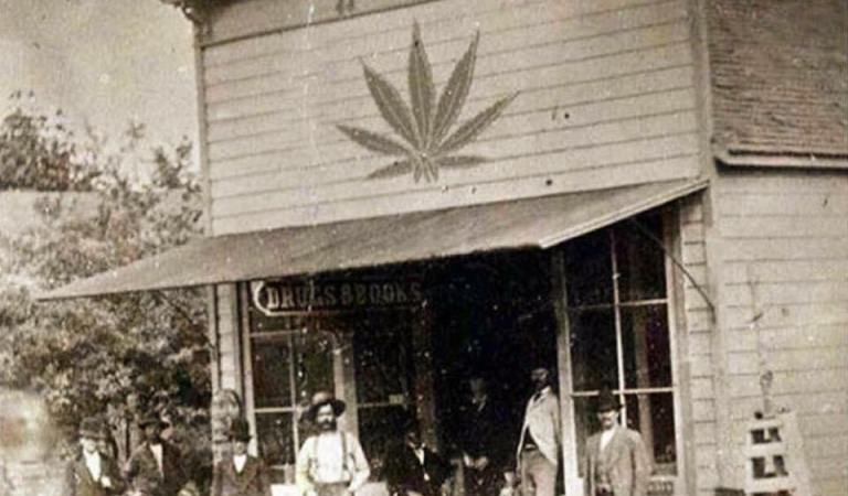 Drug Store in Late 1800's With Marijuana Leaf Symbol: Fact Check