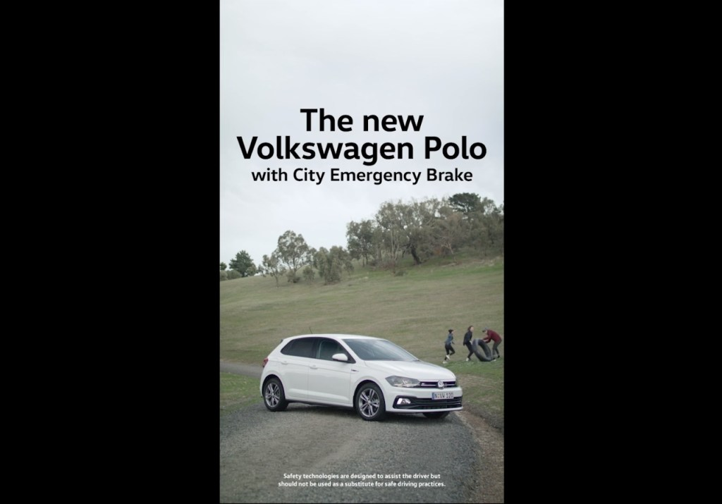 Image of Viral Advertisement for Volkswagen Polo Car