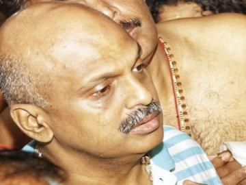 Image about IG Sreejith Crying & Repenting in Front of Lord Ayyappa