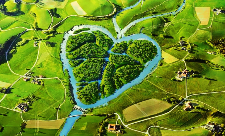 Image about Beautiful Picture of Heart River in North Dakota
