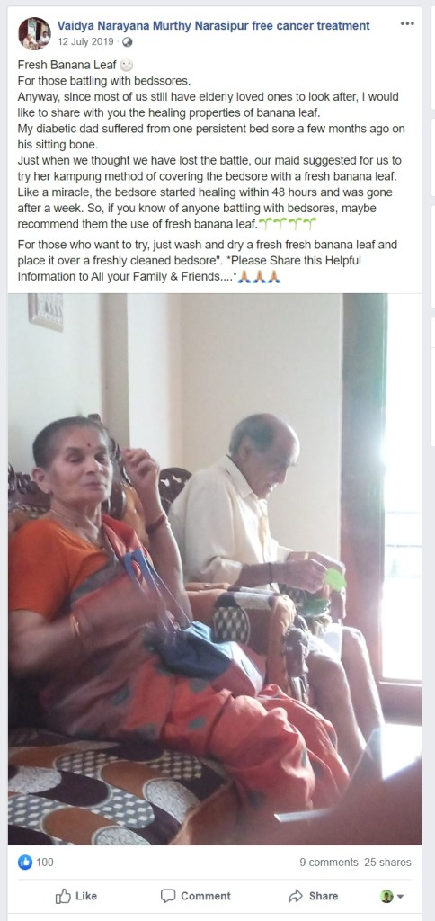 Image about Fresh Banana Leaf for Healing Bedsores
