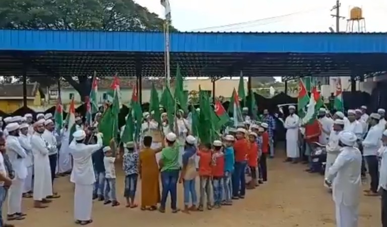 Islamists in Kerala Distorted Indian National Anthem: Fact Check