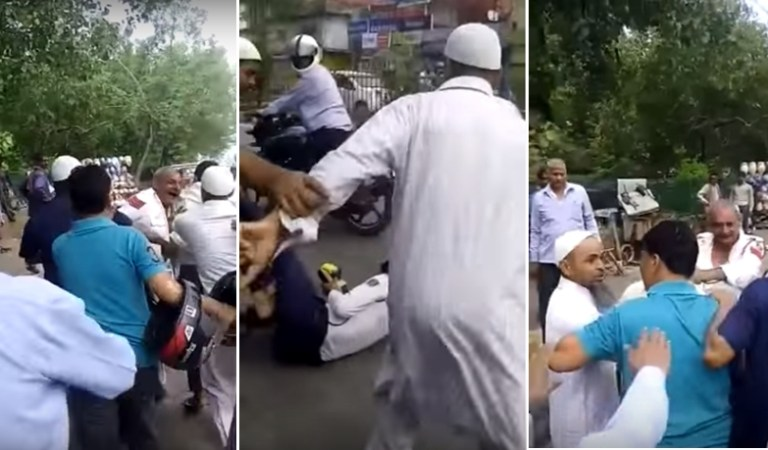 Muslim Youth Beat Two Traffic Police Cops for Challan, Video: Fact Check