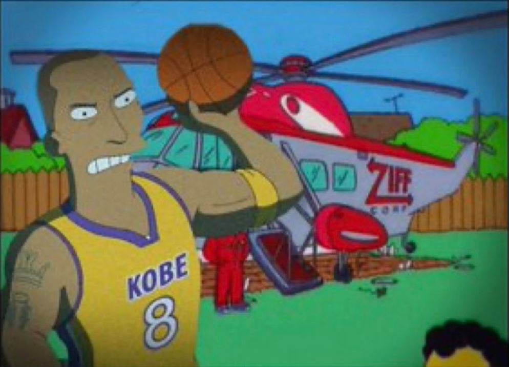 Image about Simpsons predicted Kobe death in Helicopter crash