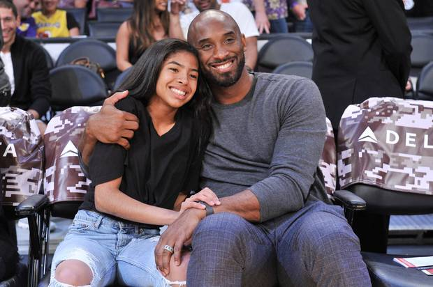 Image of Kobe Bryant and his daughter Gianna who died in a Helicopter crash along with seven others