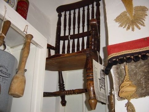 Image of The Dead Man's Chair in Thirsk Museum, England