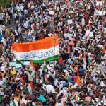 Image of CAA Protestors Replace Ashoka Chakra with Islamic Shahada