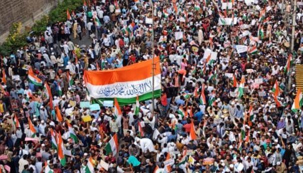 CAA Protestors Replace Ashoka Chakra with Islamic Shahada: Fact Check