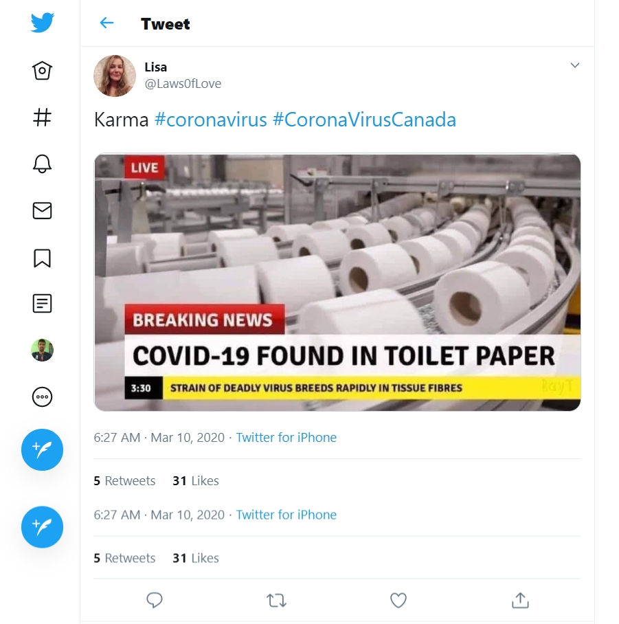 Image about COVID-19 Found in Toilet Paper, Breaking News