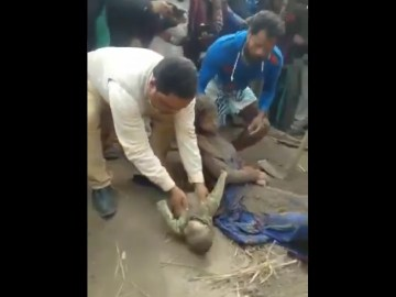Image about Mother, Child Buried Alive by Hindus in Delhi Riots - Video