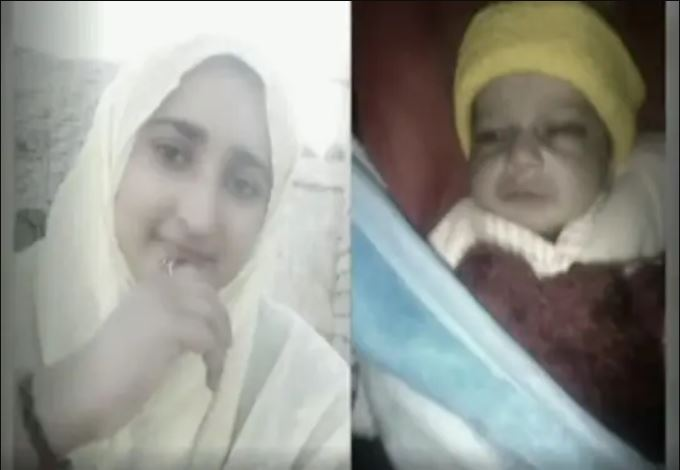 Image of 21-year-old girl Aiman and her new born Son who died in honour killing of Pakistan