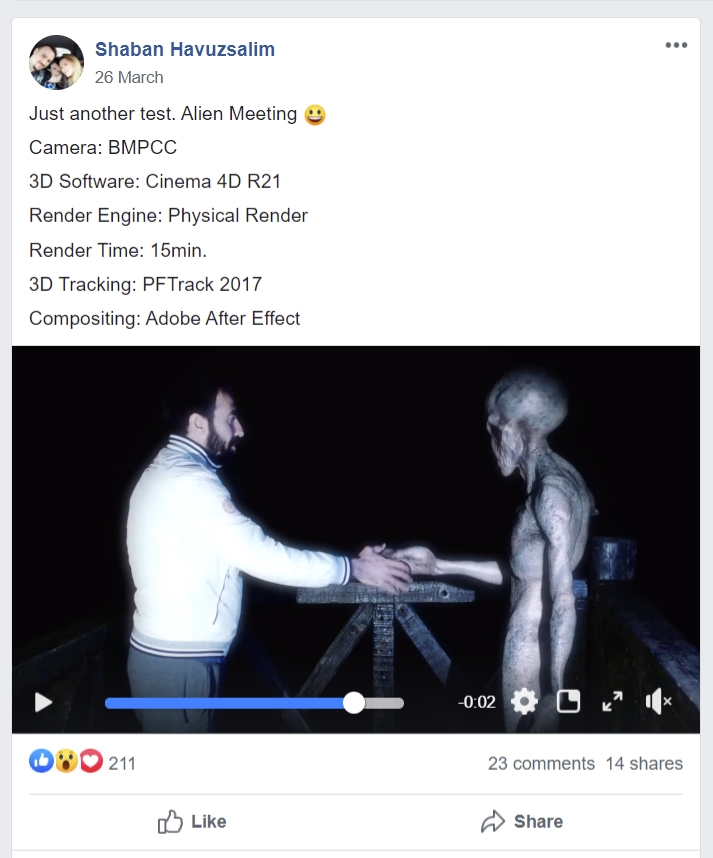 Image of Facebook post explaining about the CGI video