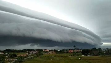 Image of Rare Arch-shaped Cloud Over Aceh, Indonesia