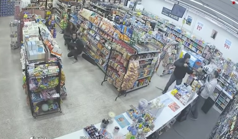 Video of Failed Robbery Shoplifters Stop an Armed Robbery: Fact Check