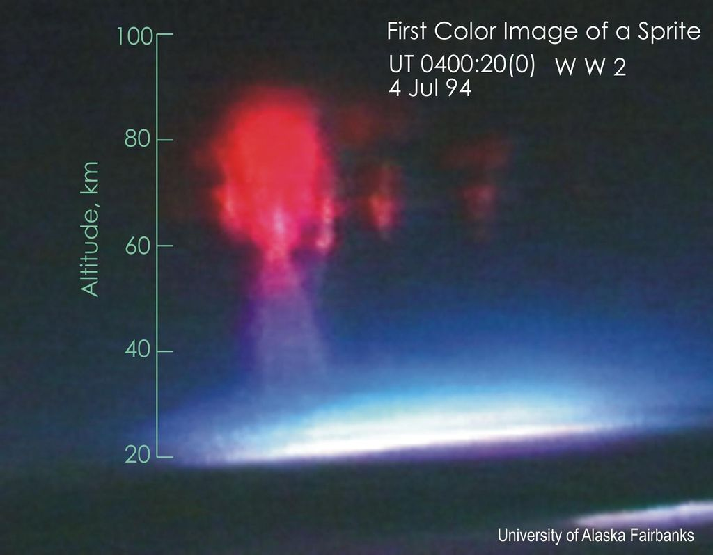 Image of a sprite, taken from an aircraft