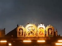 Image about Miracle Rain Shower Only on Nataraja Temple Idol