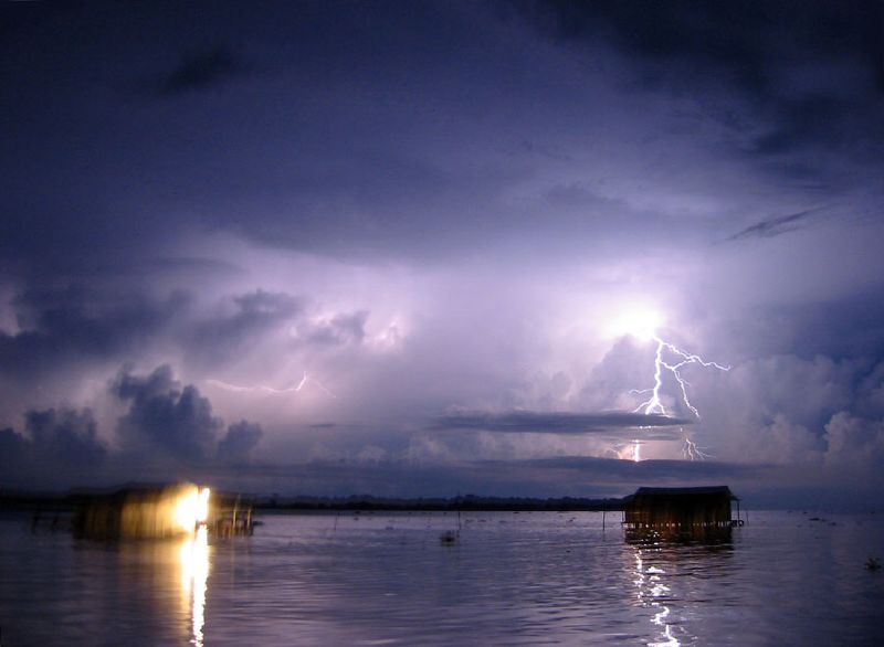 Image of the rare atmospheric phenomenon over Catatumbo River in Venezuela