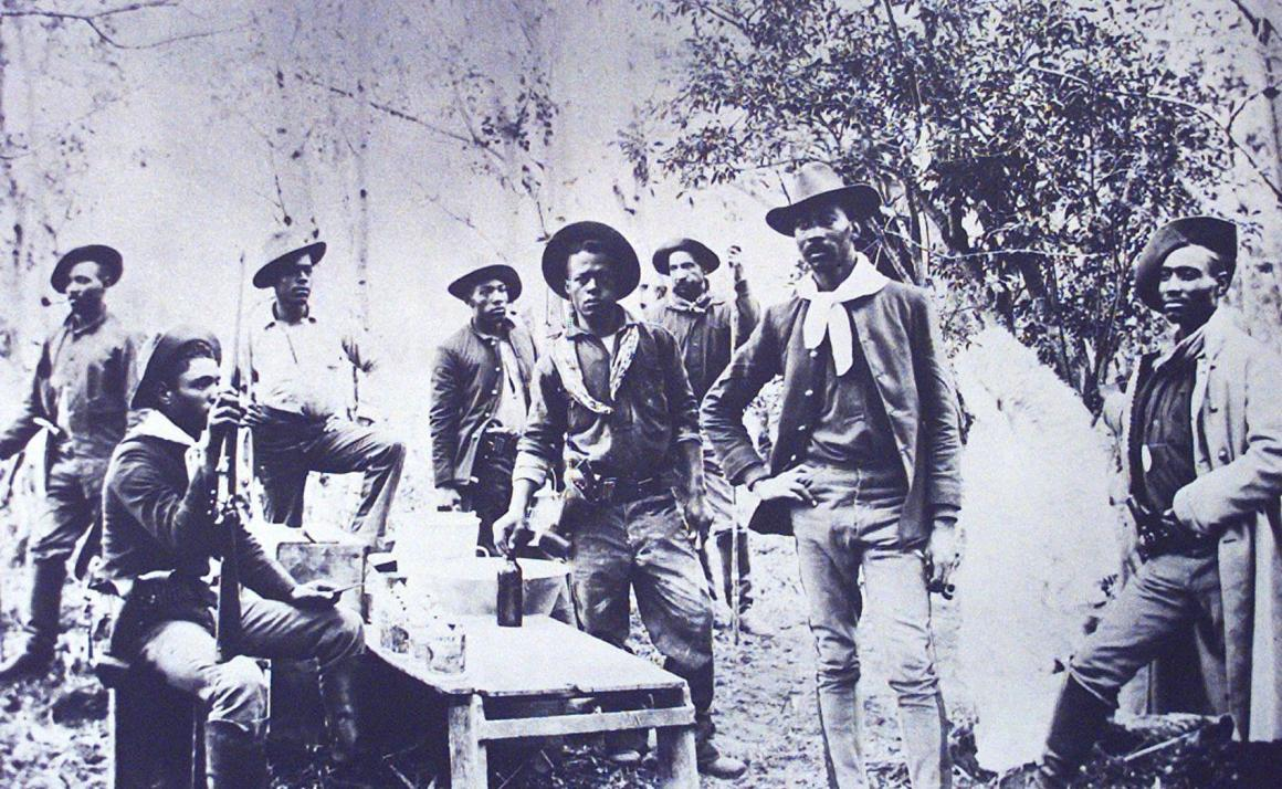 Original photograph of 10th Cavalry Regiment soldiers