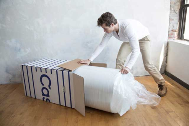 Casper mattress fits in a box