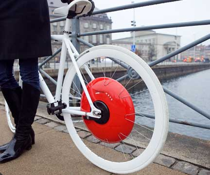 smart electric bike wheel