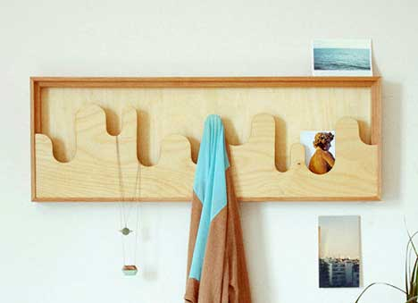 birch wood storage coat hanger