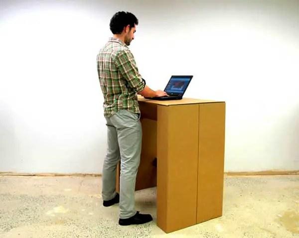Chairigami cardboard standing desk