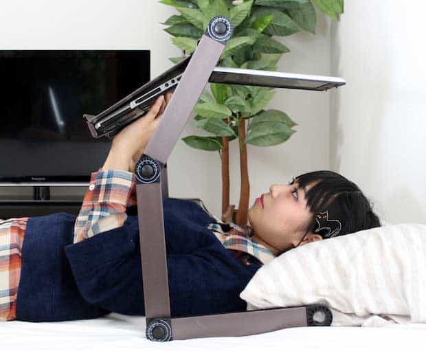 Furinno-hidup-adjustable-cooler-fan-notebook-laptop-table-portable-bed-tray-book-stand