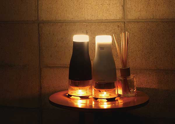 Lumir K candle powered lamp