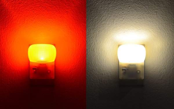 amber night lights with dusk to dawn sensor
