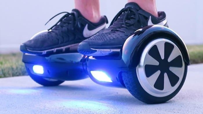 self-balancing two-wheeled hoverboard