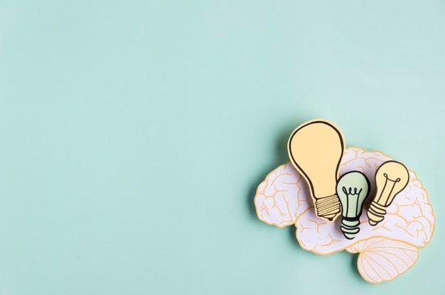 three bulbs inside the brain