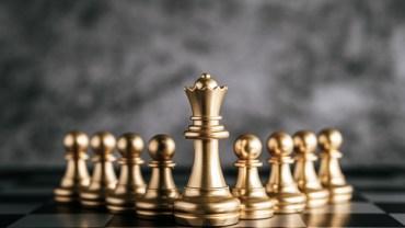 Gold chess board