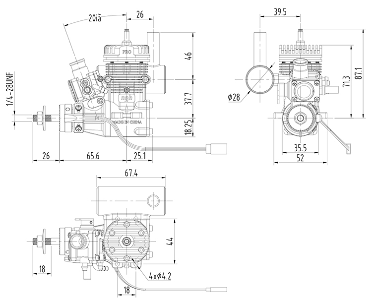 NGH GT9 Pro 2 Stroke 9cc RC Petrol / Gasoline Engines NGH