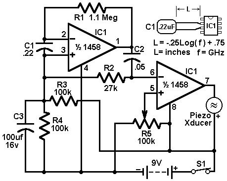 Economy radar detector circuit diagram and instructions