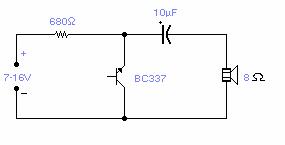 Reverse Bias Oscillator circuit diagram and instructions