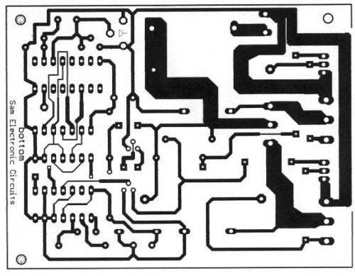 12Vdc to 220Vac 50W Converter circuit diagram and instructions