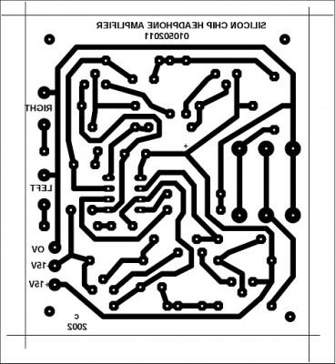 Stereo Headphone Amplifier Circuit Schematic circuit