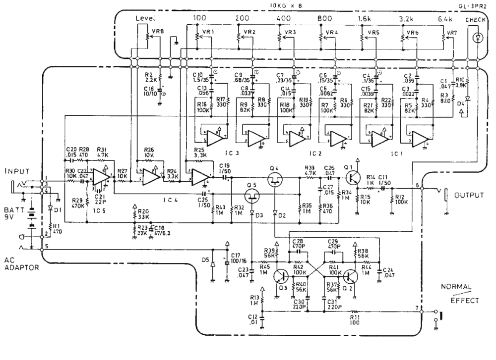 medium resolution of boss ge 7 equalizer pedal schematic diagram