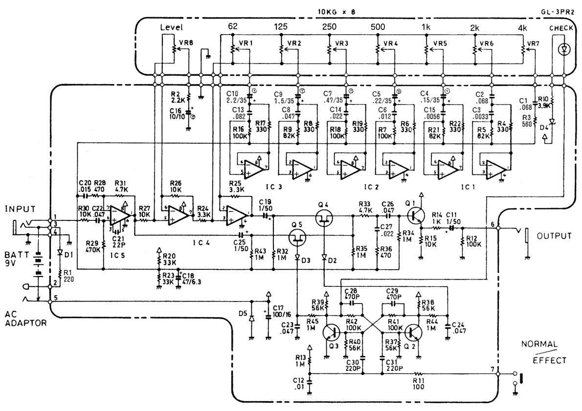 vox treble booster circuit diagram