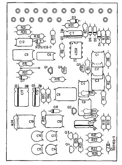 Boss SD-1 Super OverDrive guitar pedal schematic diagram