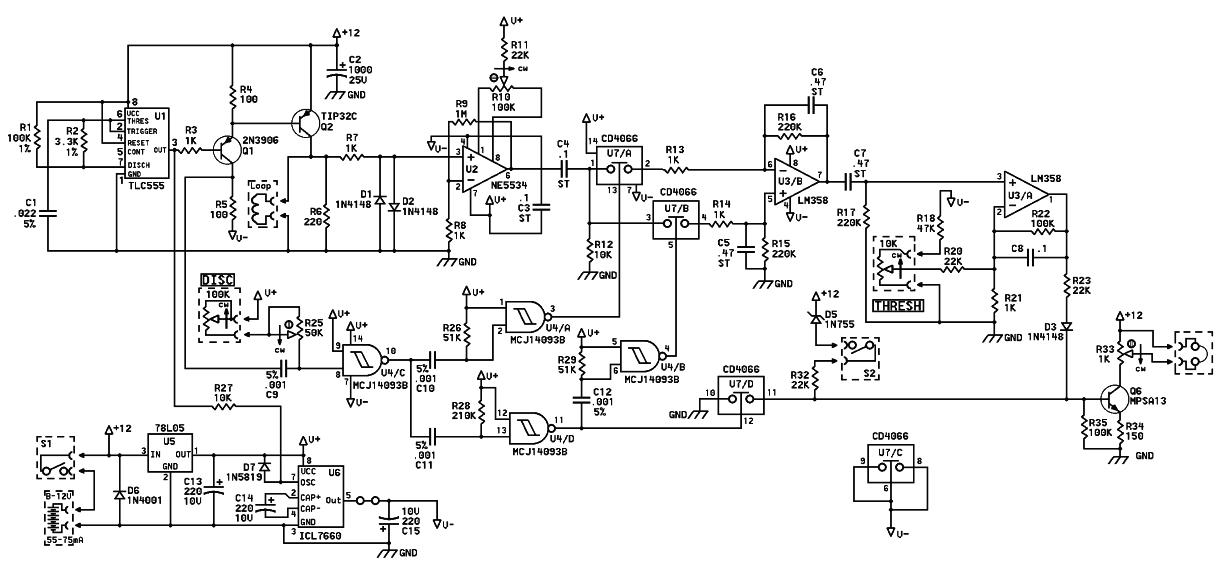 gold detector diagram