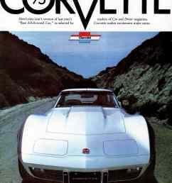 1975 corvette original advertisement [ 877 x 1134 Pixel ]