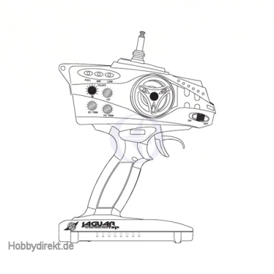 Jaguar T2P Pistolensender 2-Kanal 40MHz / Thunder Tiger