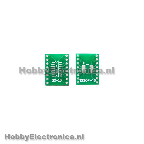 PCB voor SOIC16 of TSSOP16  HobbyElectronica
