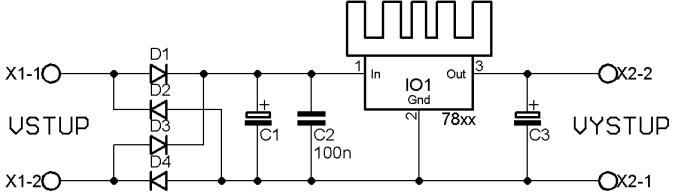 stabilizátor 7812 schéma