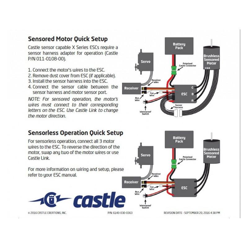 medium resolution of  castle creations mamba x sensor esc 25 2v wp och 1406 7700kv combo