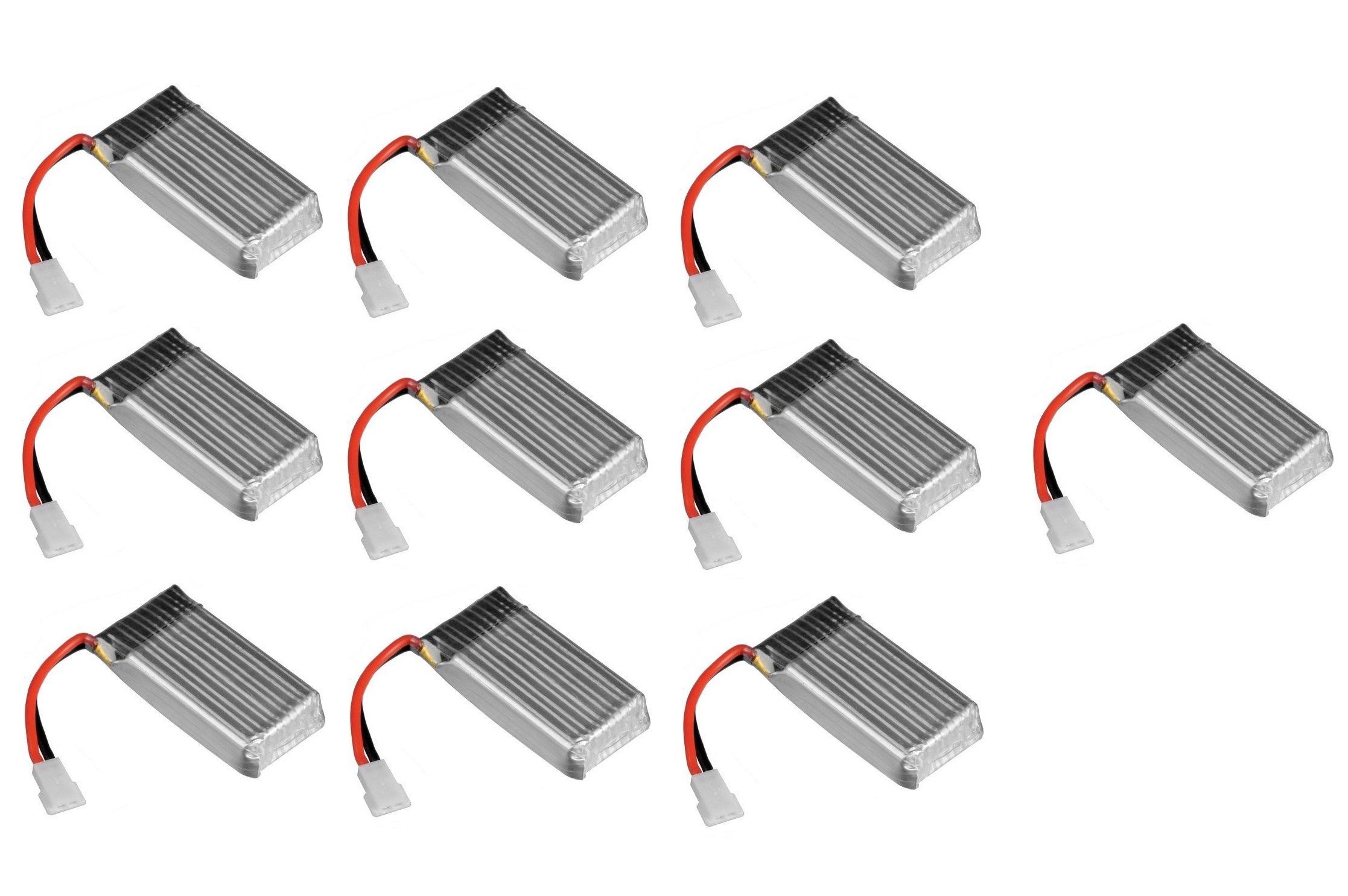 10 X Quantity Of X Drone Nano H107r Battery 3 7v 380mah
