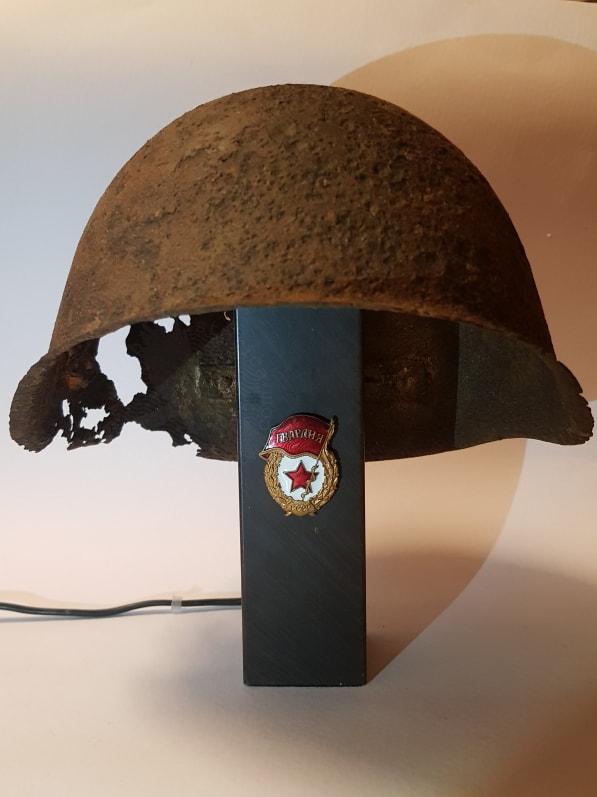 Red Army Helmet Lamp